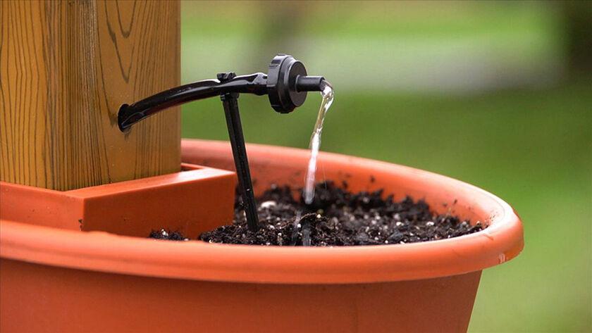 vertical herb garden flower pot tower. Black Bedroom Furniture Sets. Home Design Ideas