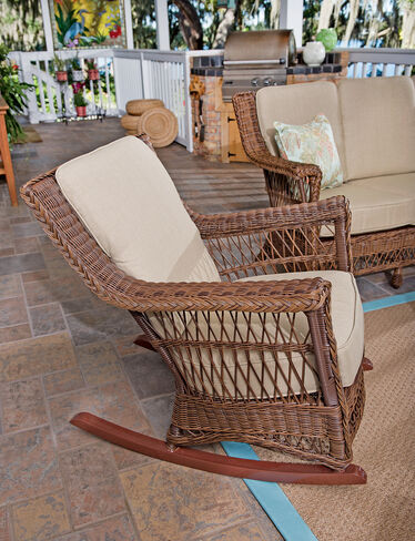 Legacy Outdoor Wicker Rocking Chair