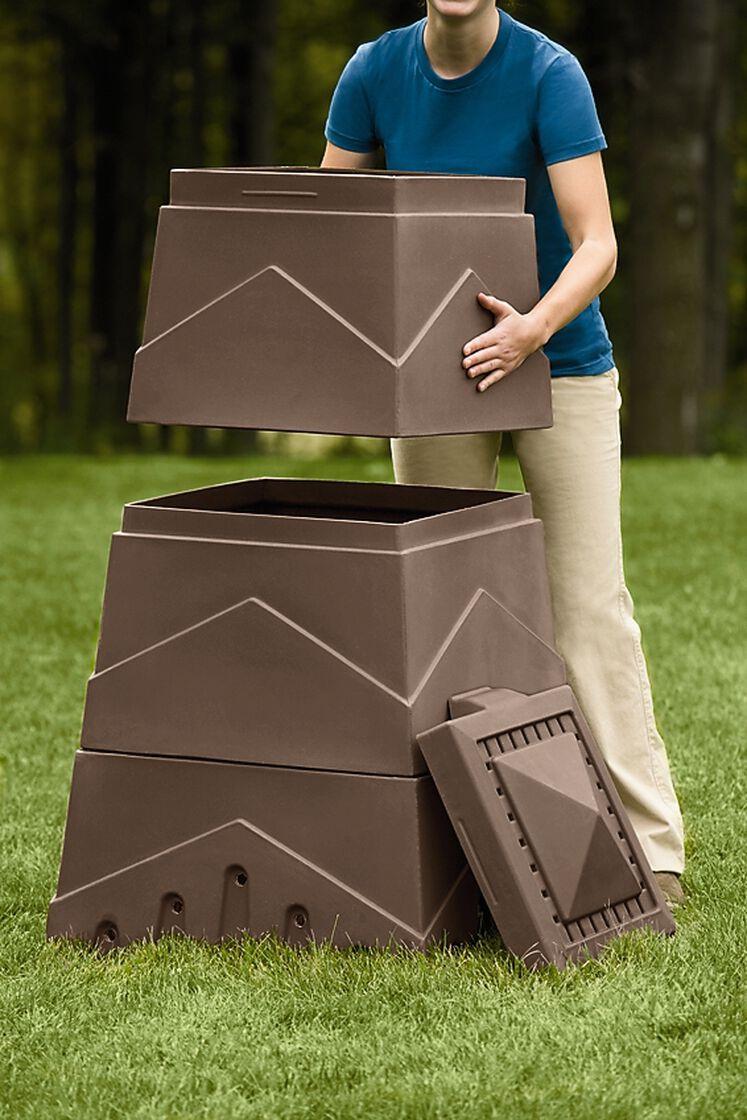 Eco Stack Composter Compost Bin Gardener S Supply