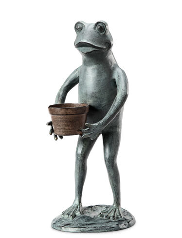 Frog with Planter Statue