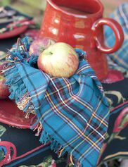 Market Plaid Napkins, Set of 4