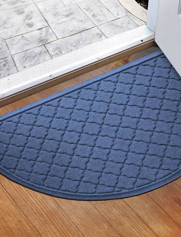 "Cordova Water Glutton Half-Round Door Mat, 24"" x 39"""