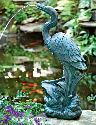 Heron Spitter Fountain