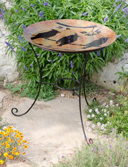 Cedar Waxwing Bird Bath