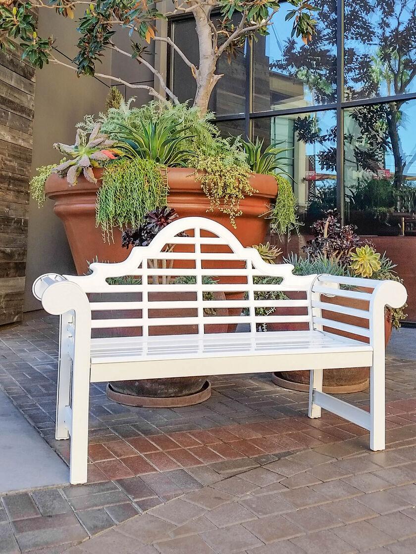 Aluminum Bench Lutyens Aluminum Bench 5 White Garden