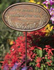 Love Like Sunshine Garden Plaque