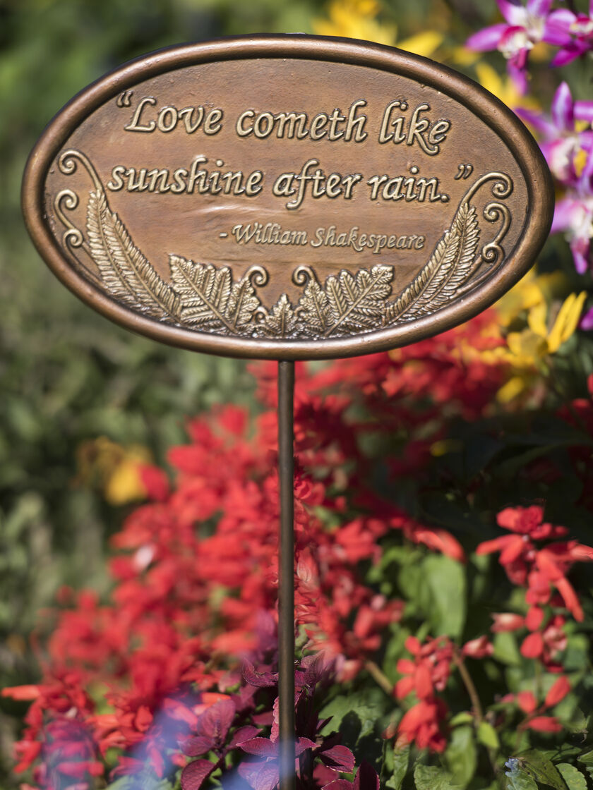 Personalized Garden Plaques Decorative Custom Handcrafted Garden ...