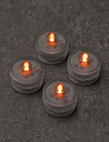 Submersible LED Tea Lights, Set of 4