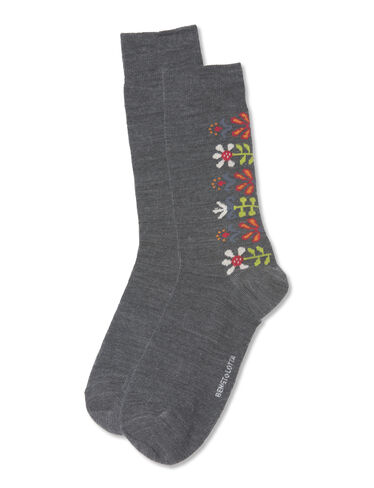 Floral Merino Wool Socks