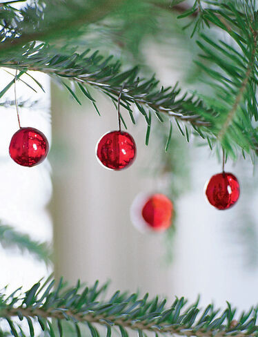 Berry and Dewdrop Ornaments