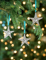 Glass Star Ornaments, Set of 3