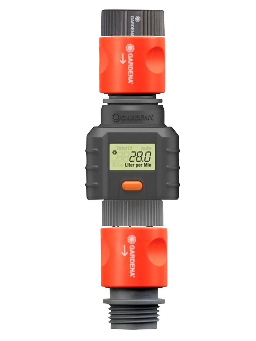 Electronic Water Flow Meter : Garden hose flow meter water by gardena