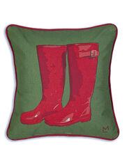 "Rubber Boots Throw Pillow, 18"""