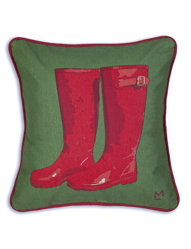 Rubber Boots Throw Pillow, 18""
