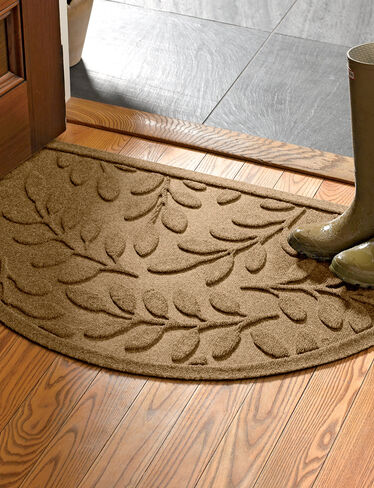 Half-Round Laurel Leaf Water Glutton Doormat