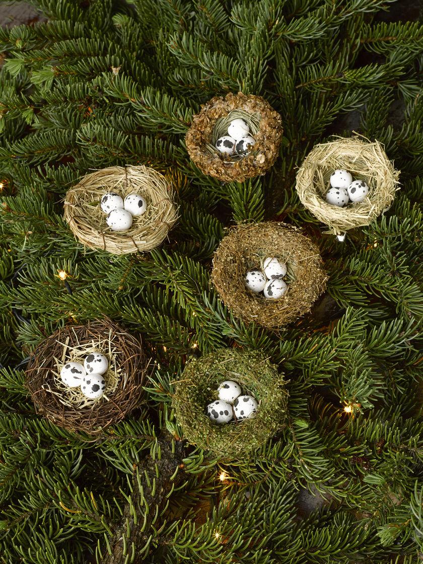 bird nest ornament  set of 6