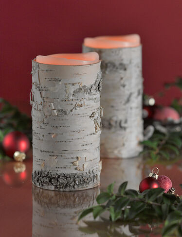 "3"" x 6"" Birch Pillar Sleeves, Set of 2"