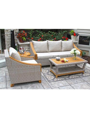 Vineyard Outdoor Wicker and Teak Deep Seating Suite