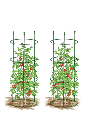 Topple-Proof Tomato Cages, Set of 2