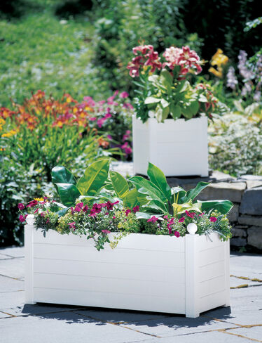 Terrazza Trough Planter, White