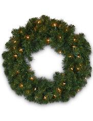 "Pre-Lit Wreath, 36"""
