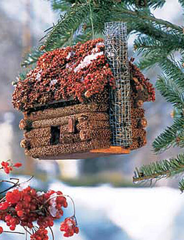 Birdseed Log Cabin