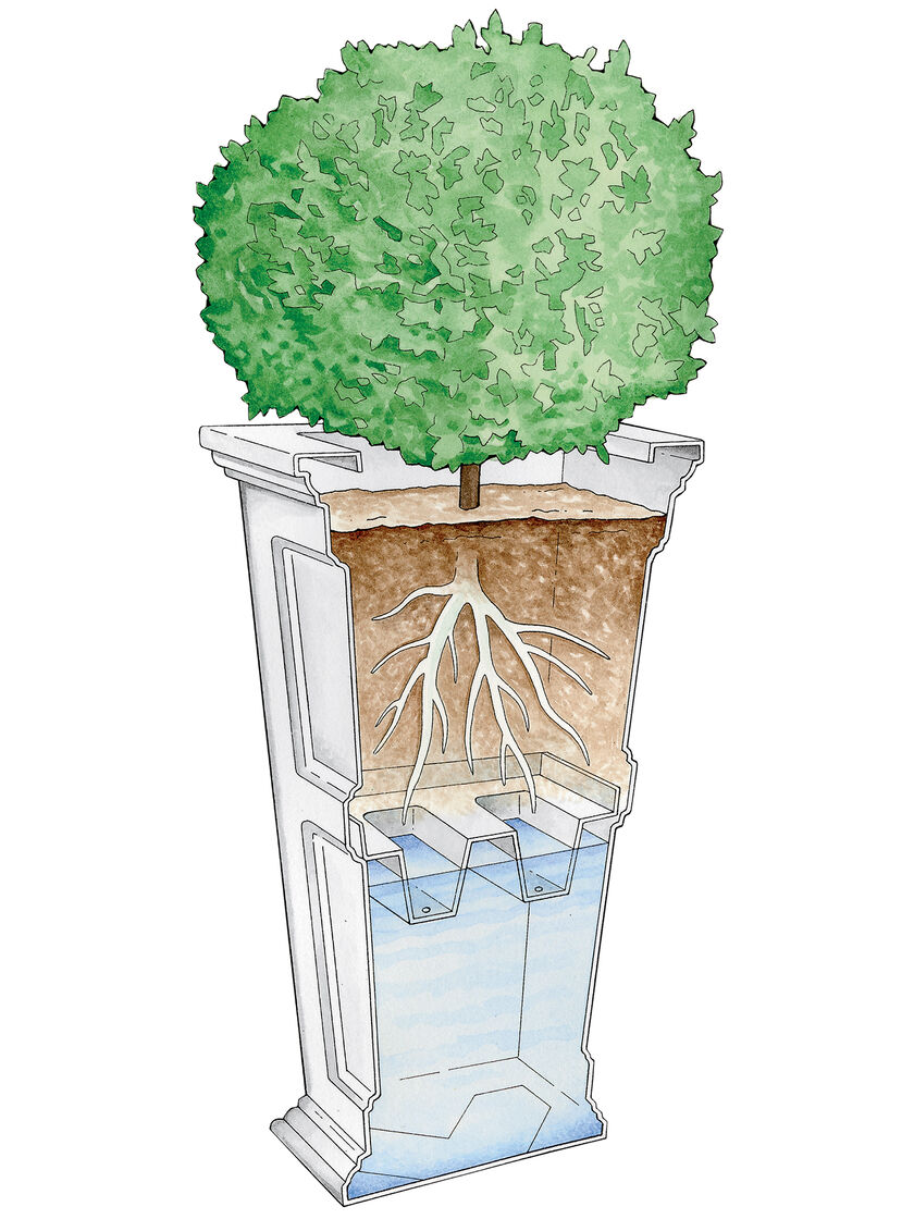 Tall Planters Fairfield Self Watering Patio Planter