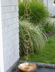 Double Link Copper Rain Chain