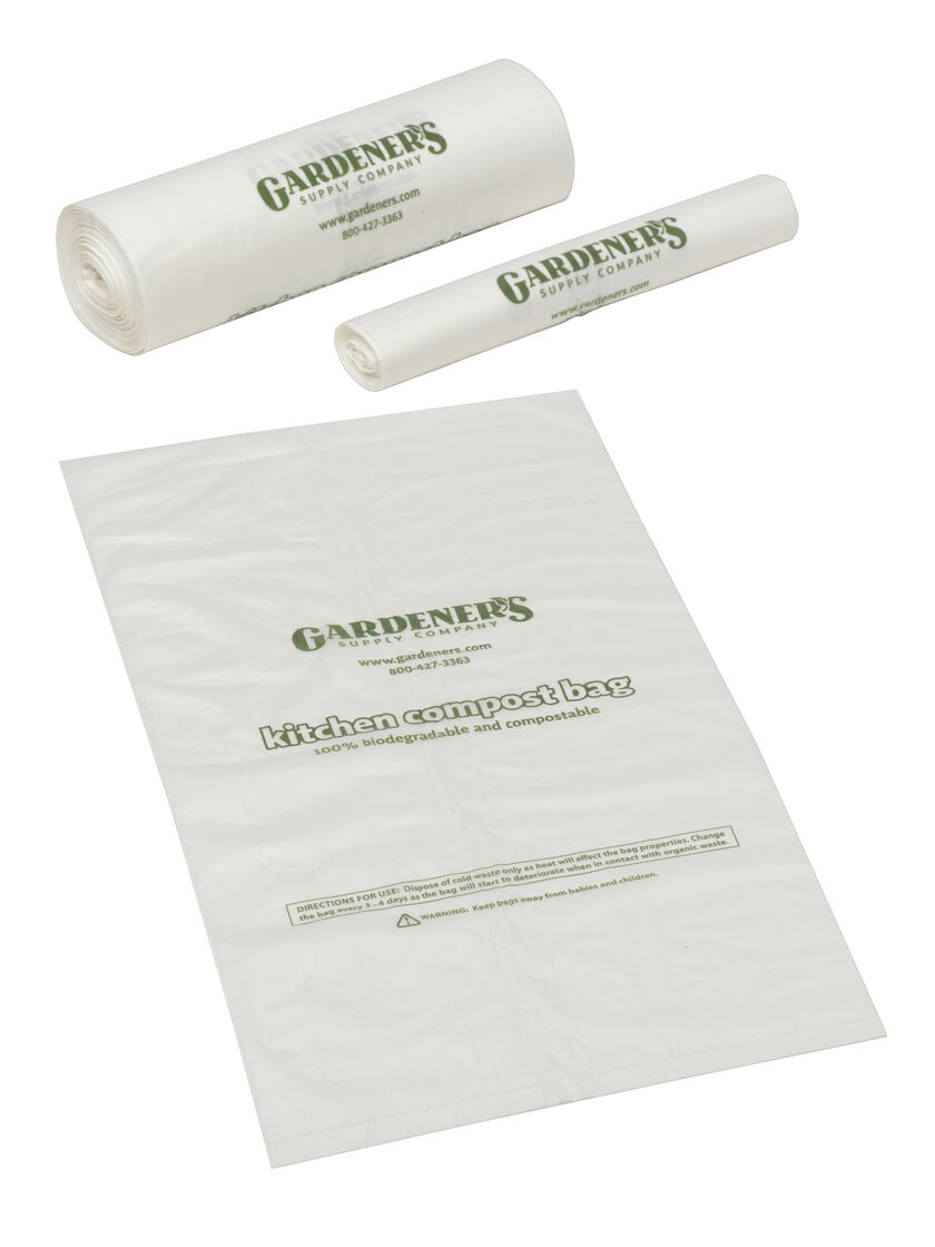 The Kitchen Gardener Compostable Bags Bio Bags For The Kitchen Gardenerscom