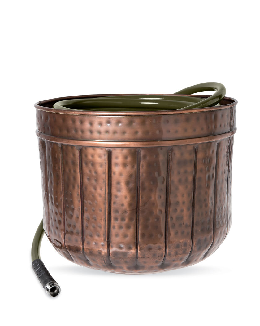 Hose Pot Garden Hose Storage Copper Colored Hose Pots