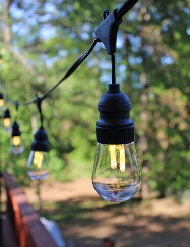 led edison bulb string lights 10 edison bulbs. Black Bedroom Furniture Sets. Home Design Ideas
