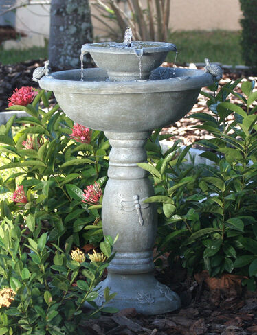 Country Garden Two-Tier Solar Fountain