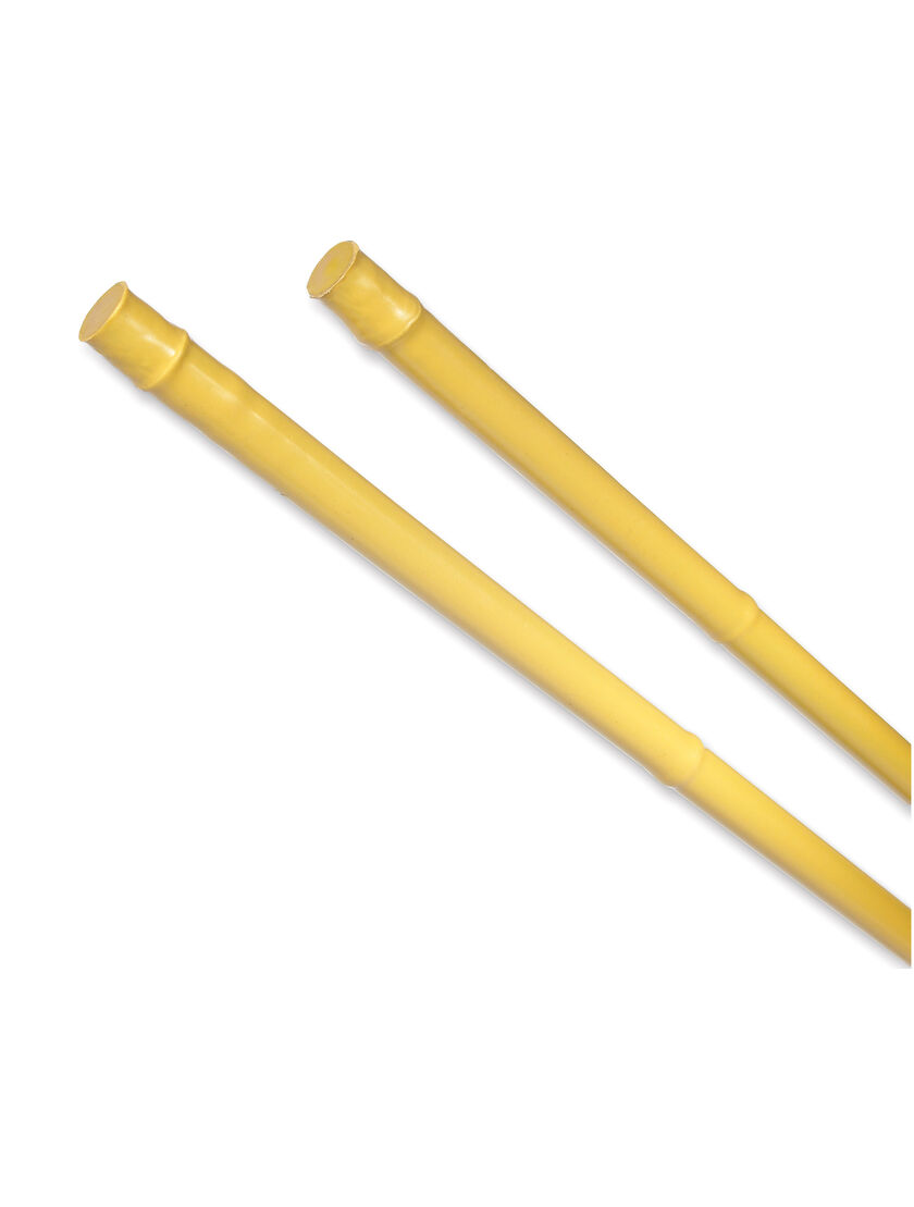 Faux bamboo poles plastic coated steel gardener