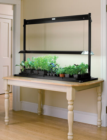 t5 table top grow lights made in the usa. Black Bedroom Furniture Sets. Home Design Ideas