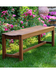 3-Person Eucalyptus Backless Bench