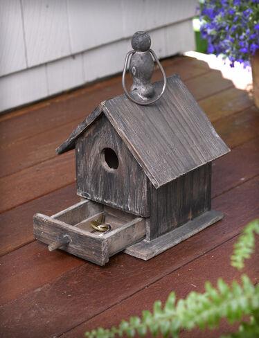 Decorative Bird Houses Rustic Hide A Key Birdhouse