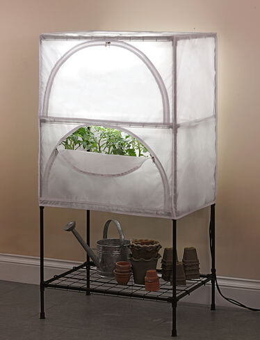Indoor growing system t5 grow lights with stand and cover for Indoor gardening ventilation system