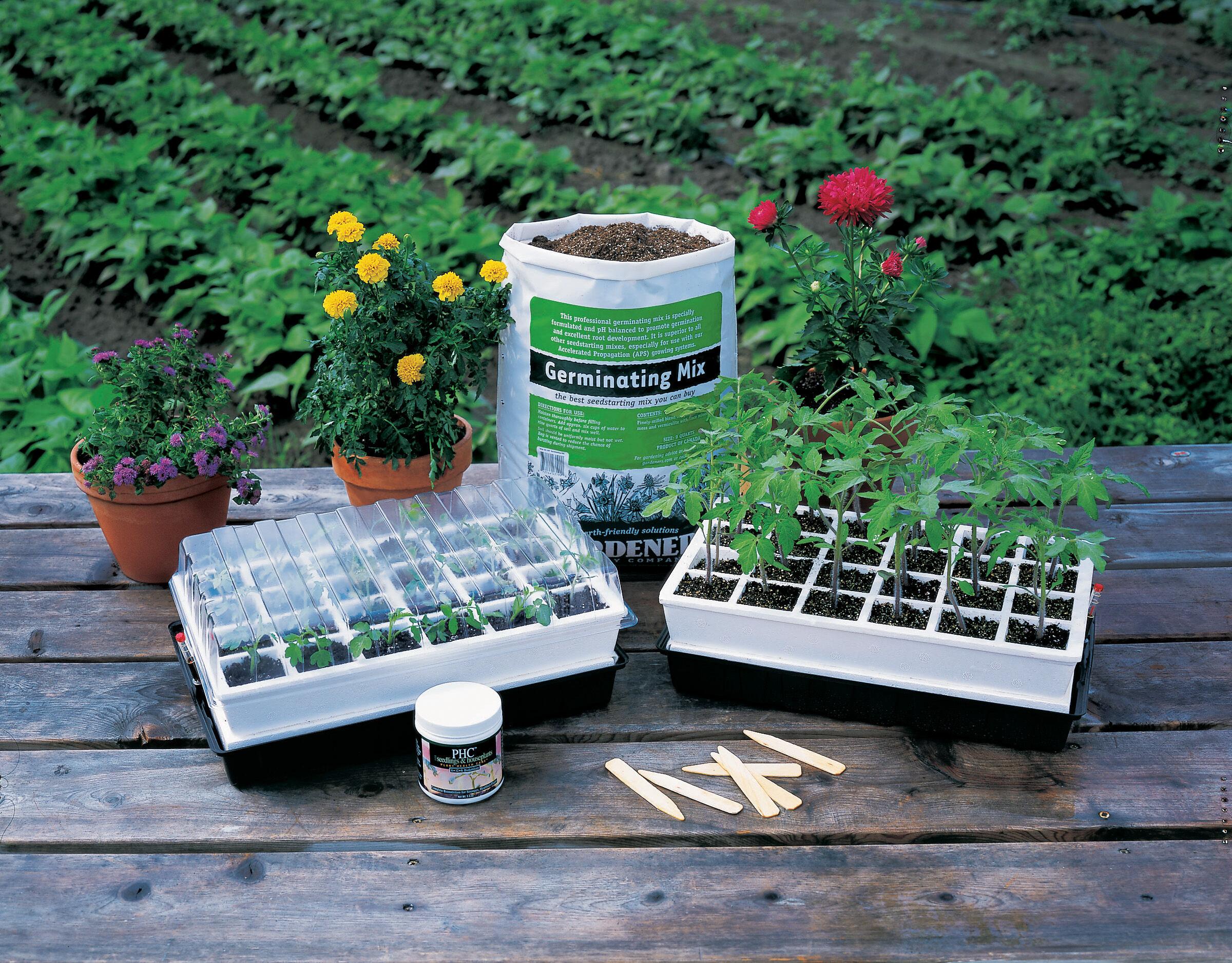 Grow Light Stand 2 Shelves Seed Starting Supplies