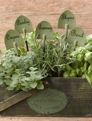 Garden Shovel Herb Markers, Set of 5