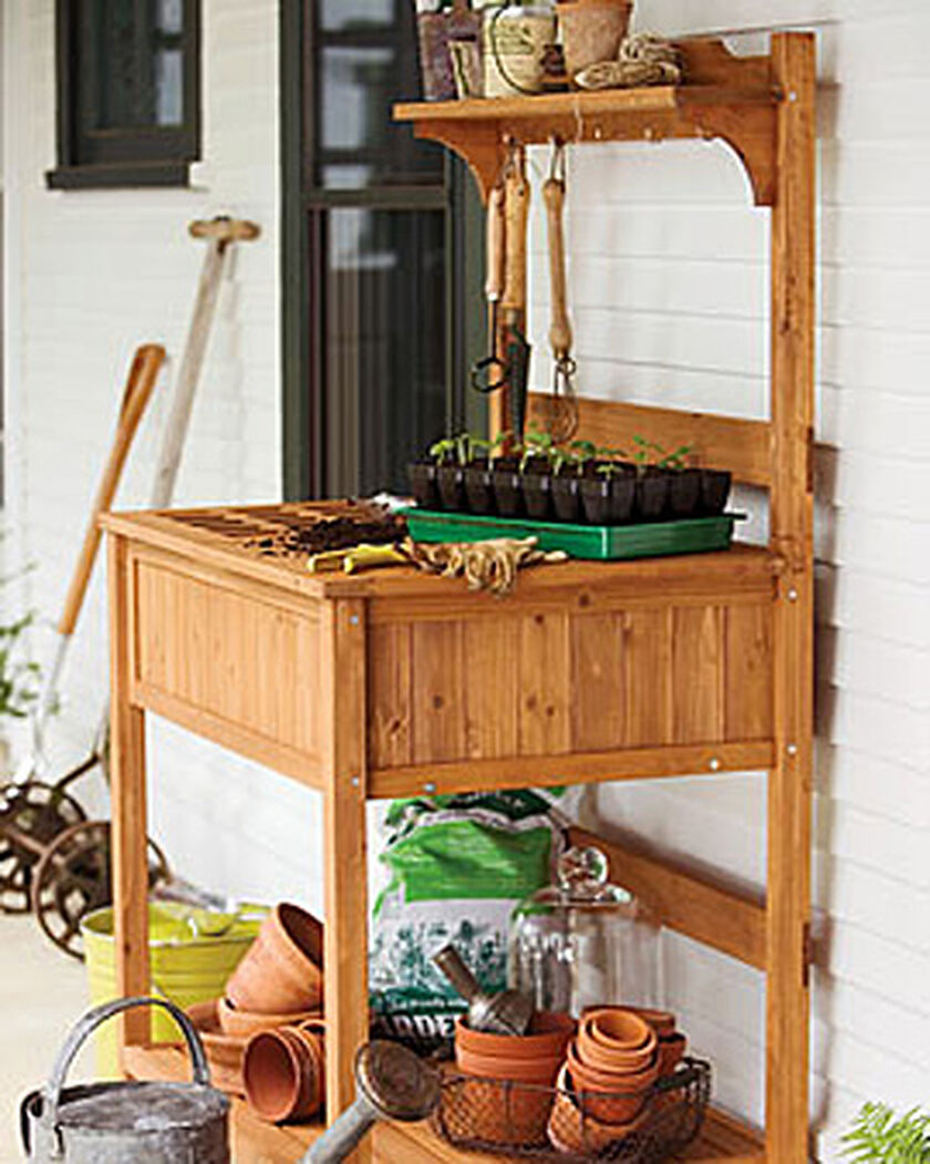 potting bench buy from gardener s supply