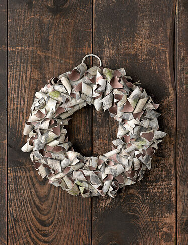 Paper Bark Wreath, 13""
