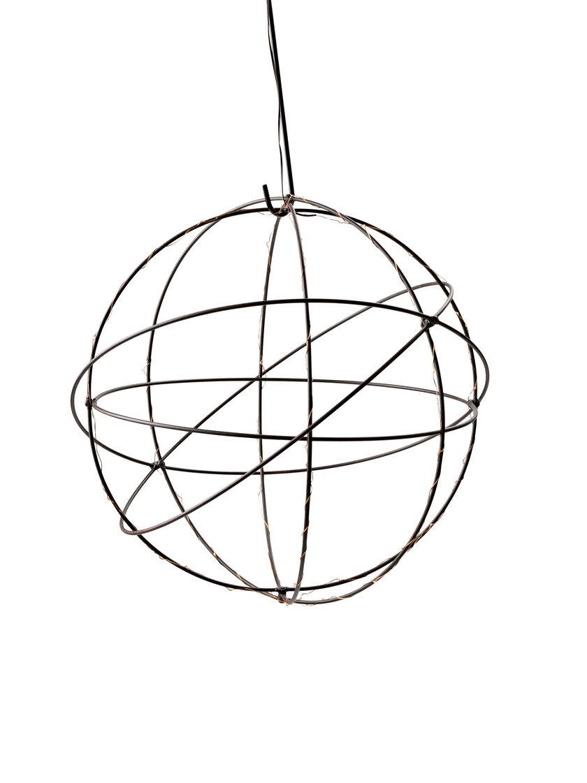 wire sphere battery operated led lights 20 inch