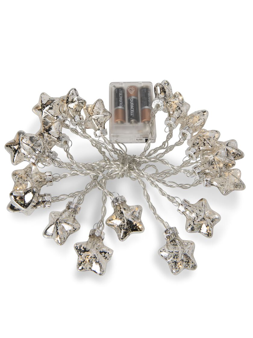 Mini Star String Lights : Mini Star LED String Lights - Battery Operated with Vintage Style