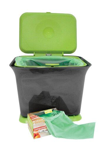 kitchen compost bin odor free kitchen compost collector. Black Bedroom Furniture Sets. Home Design Ideas