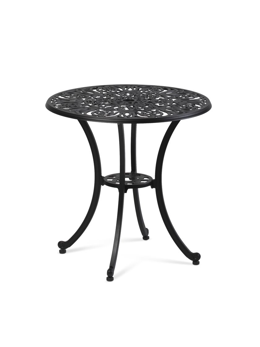 Outdoor Bistro Table 30 Inch Round Black Bistro Table