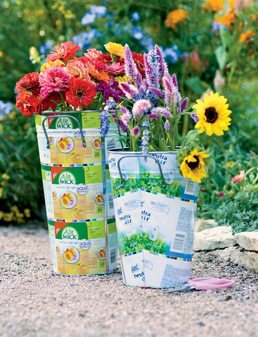 Cut Flower Pails, Set of 2