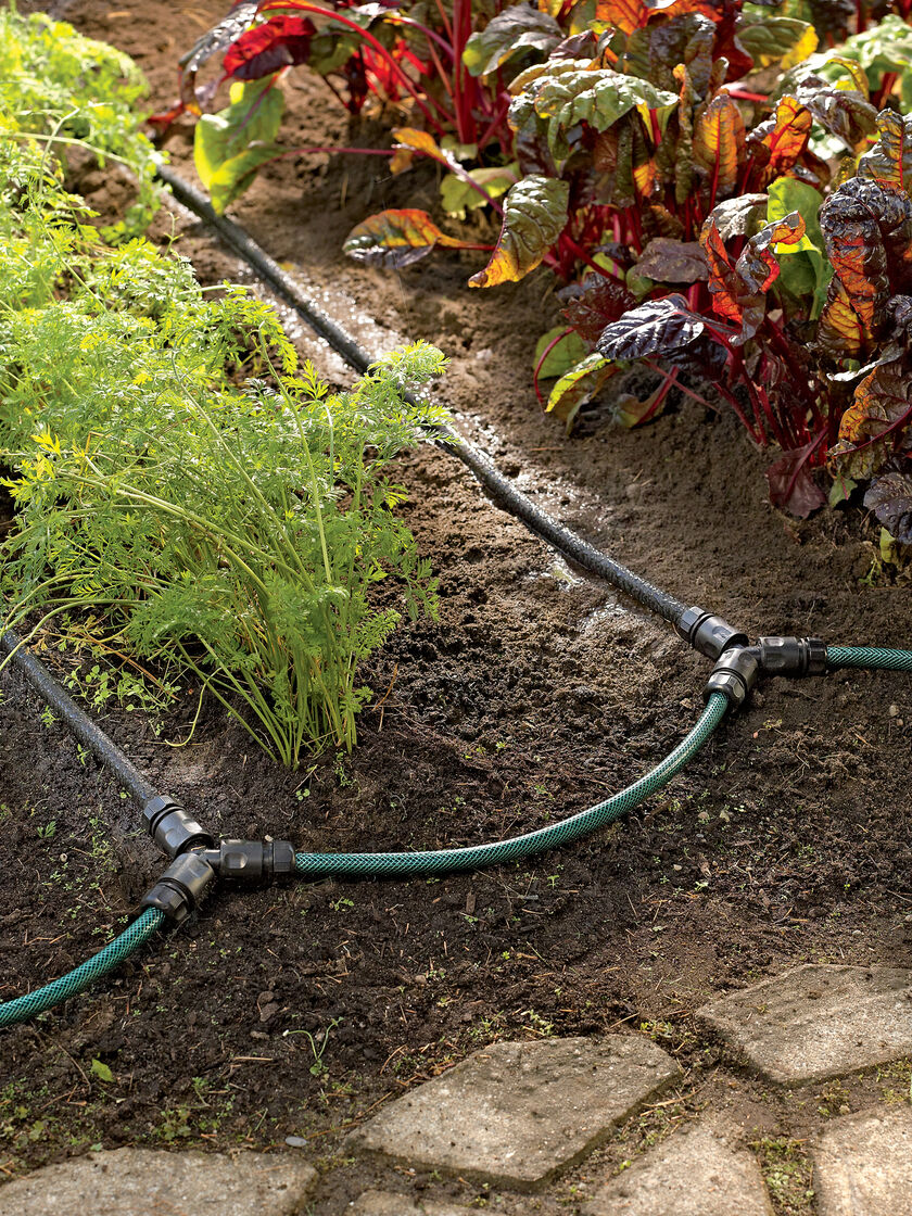 Soaker Hose Drip Irrigation System for Garden Rows Gardeners Supply