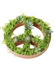 Peace Sign Dish Planter