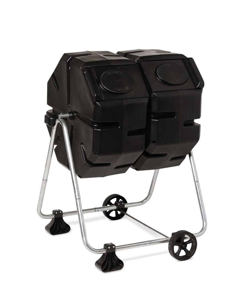 Buy Rolling Make Up Artist Bag With Seat: Dual Batch Compost Tumbler With Wheels