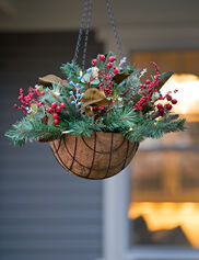 Savannah Pre-Lit Hanging Basket Arrangement